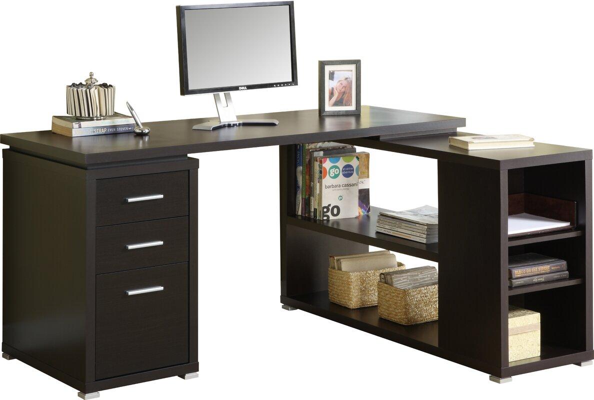 Latitude Run Huntleys L-Shaped Computer Desk & Reviews | Wayfair