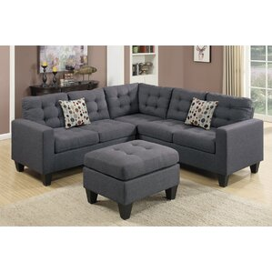 Perfect Pawnee Modular Sectional With Ottoman 6 Seat