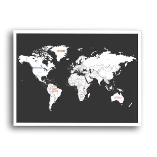 World map decal kids wayfair world map graphic art on wrapped canvas gumiabroncs Images