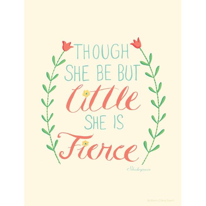 Ellen Crimi Trent Though She Be But Little She Is Fierce Textual