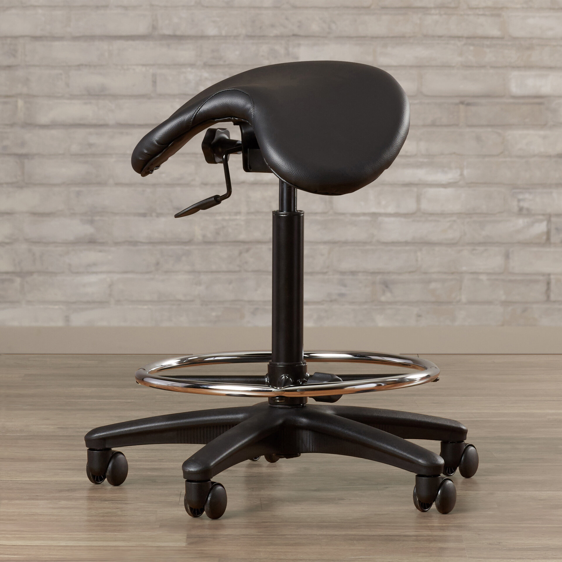 Wrought Studio Bouley Height Adjustable Backless Lab Stool with Saddle Seat u0026 Reviews | Wayfair & Wrought Studio Bouley Height Adjustable Backless Lab Stool with ...