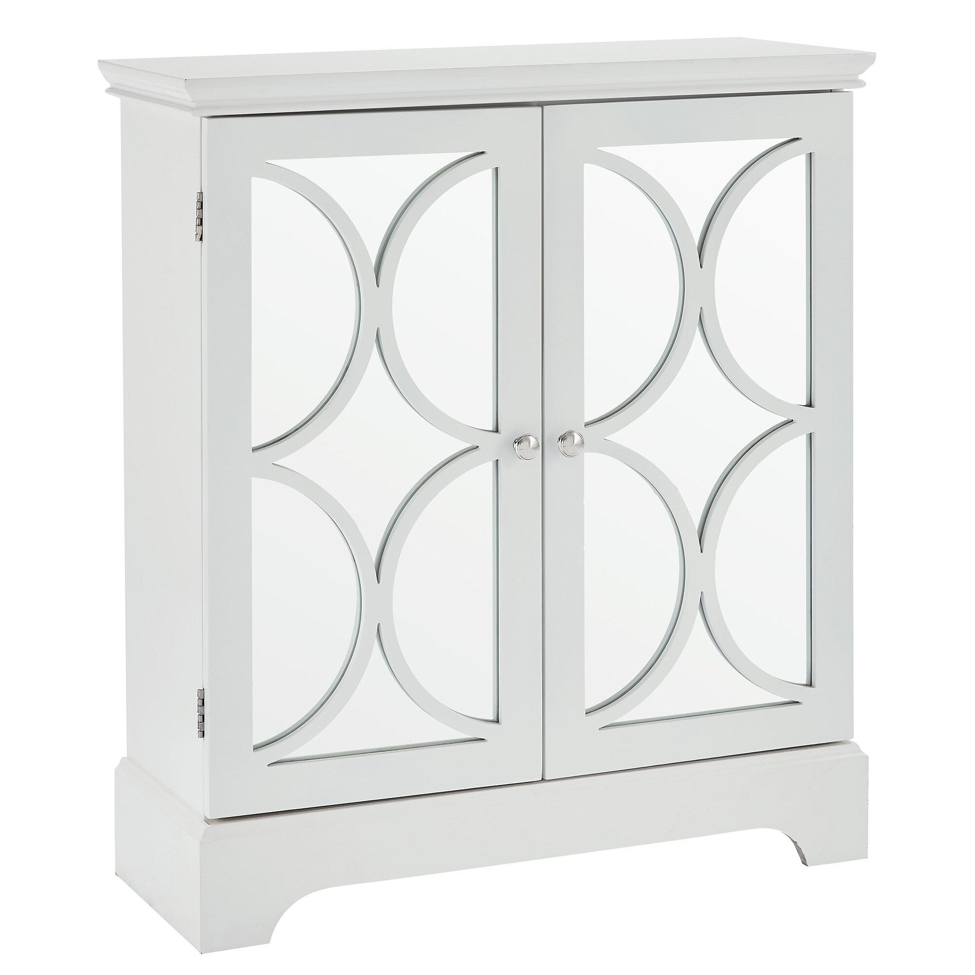 House Of Hampton Melfa Mirrored Accent Cabinet | Wayfair