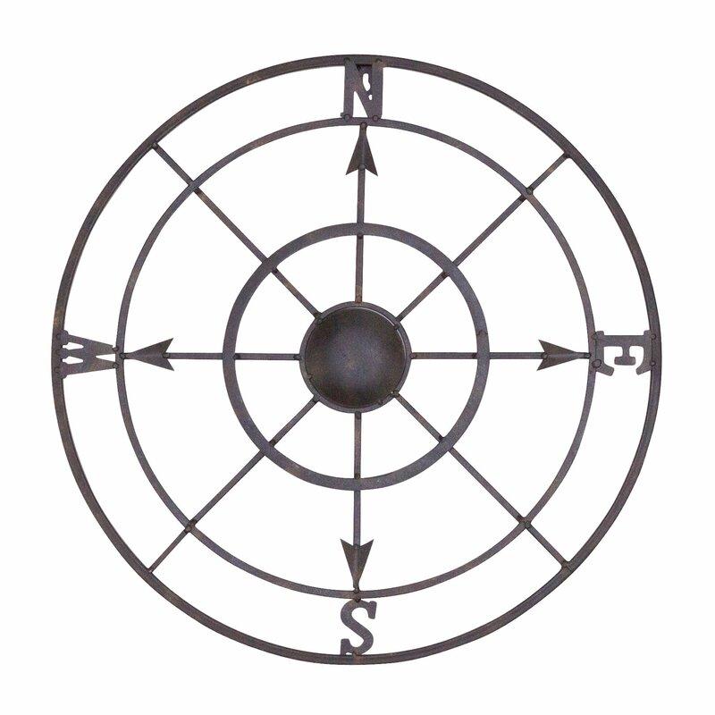 Nautical Metal Compass Rose Wall D