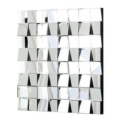 Brayden Studio Square Silver Wall Mirror
