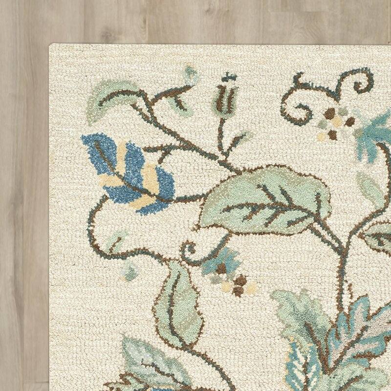 Autumn Woods Hand Tufted Colonial Blue Area Rug