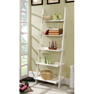 Antique White Ladder Shelf