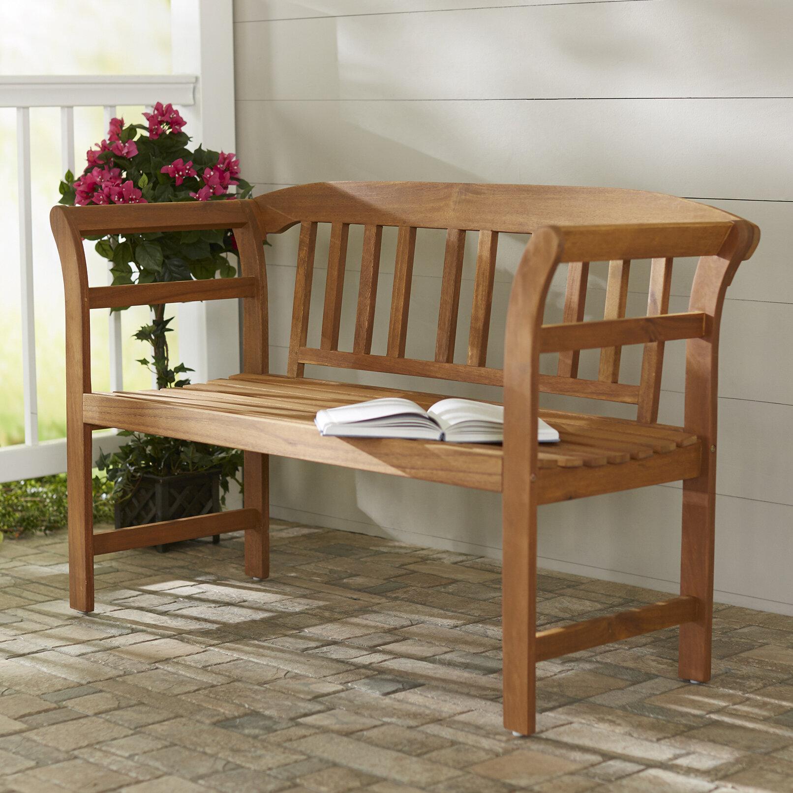 Archdale 2 Seat Acacia Wooden Garden Bench