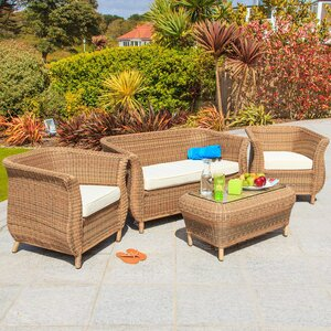 4-Sitzer Sofa-Set jamaica aus Rattan von Home Loft Concept