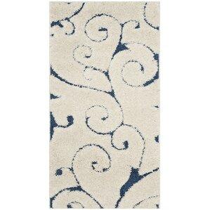 alison creamnavy blue area rug