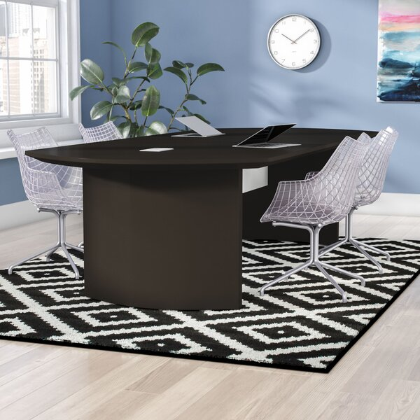 Zipcode Design Peabody Curved End Conference Table Reviews Wayfair - Curved conference table
