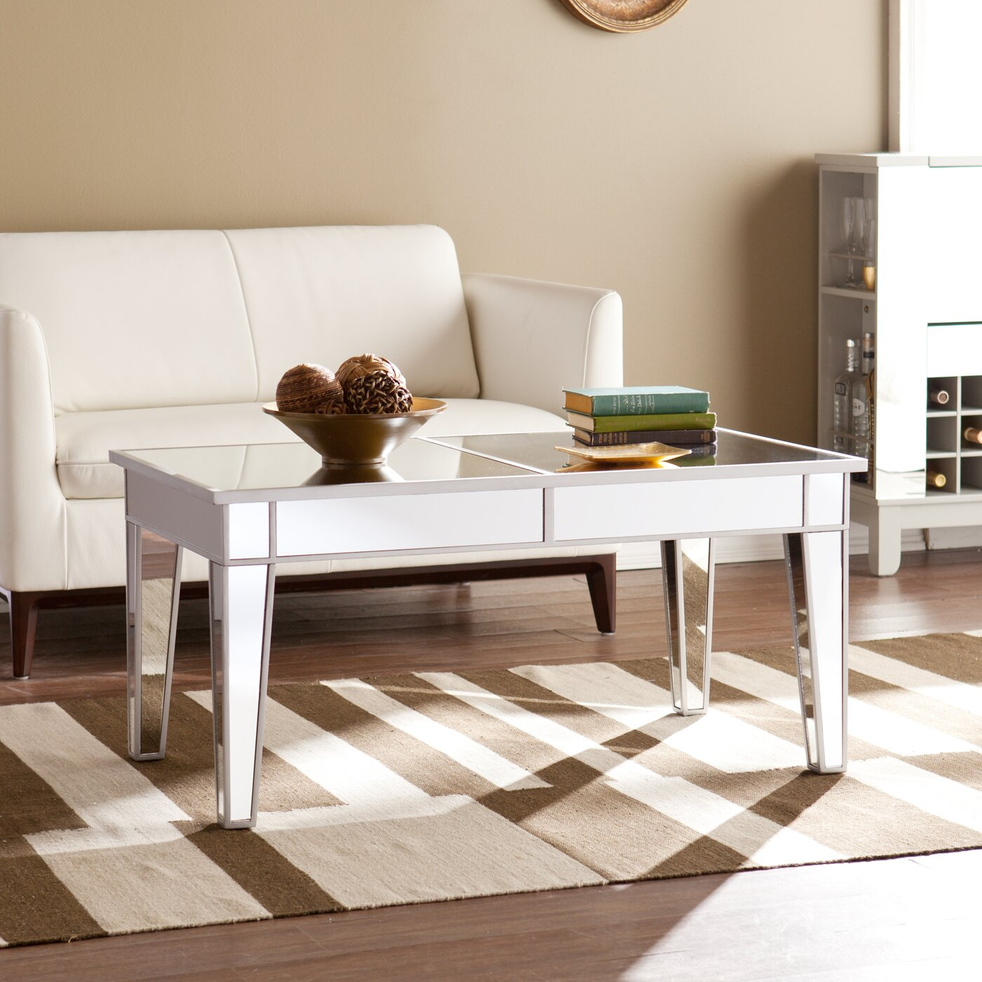 Ghent Mirrored Coffee Table - House Of Hampton Ghent Mirrored Coffee Table & Reviews Wayfair