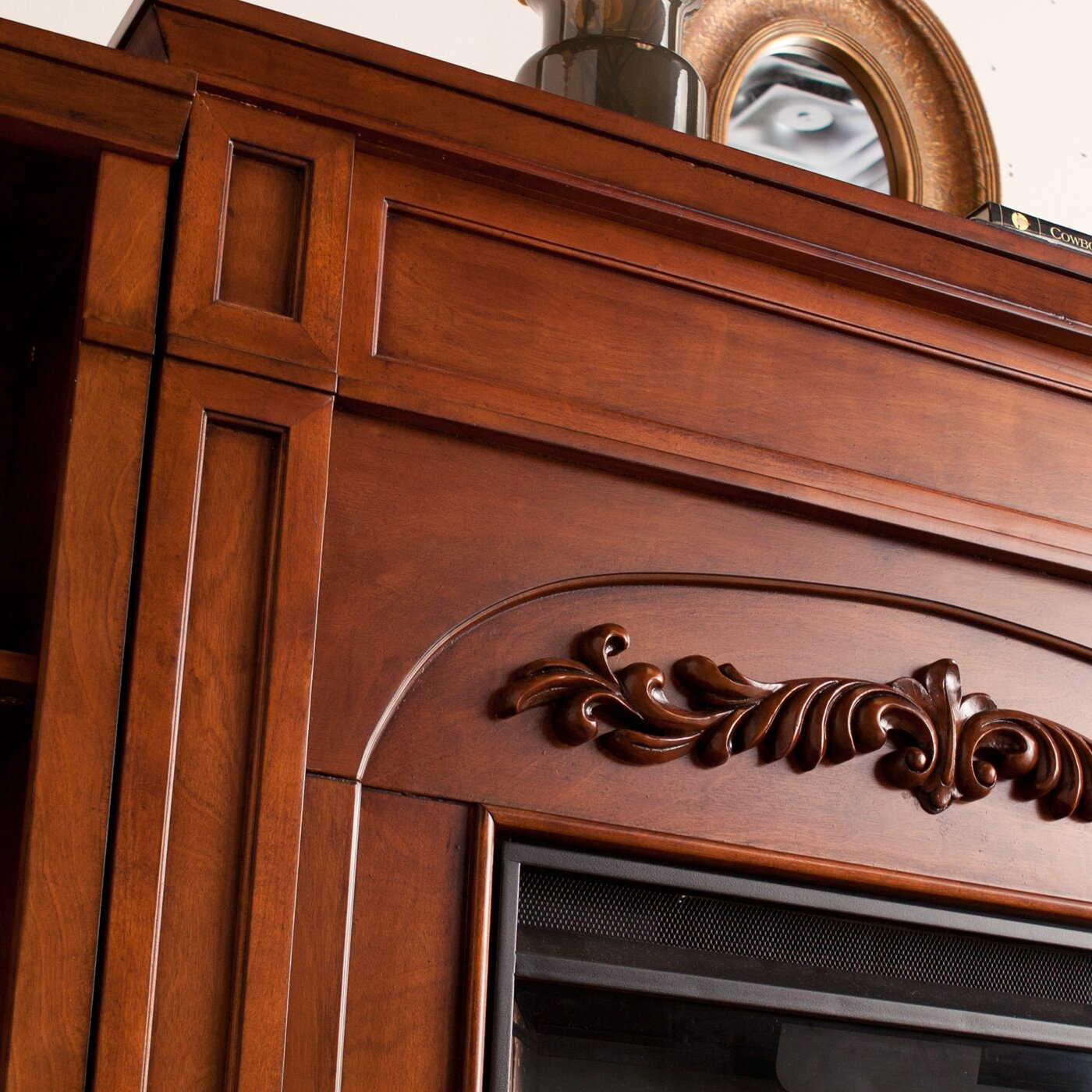 Montgomery 26in electric fireplace and tv stand cherry 26mm2490 c233 - Astoria Grand Grandmasters 42 Bookcase Electric Fireplace