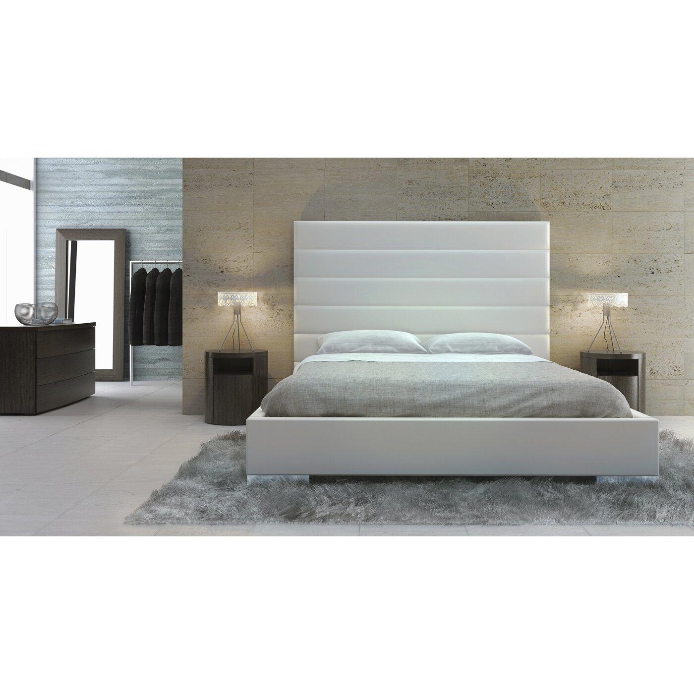 Prince upholstered platform bed reviews allmodern - Seagrass platform bed ...