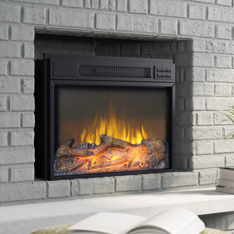 Zipcode Design Jenifer Electric Fireplace Insert Reviews Wayfair