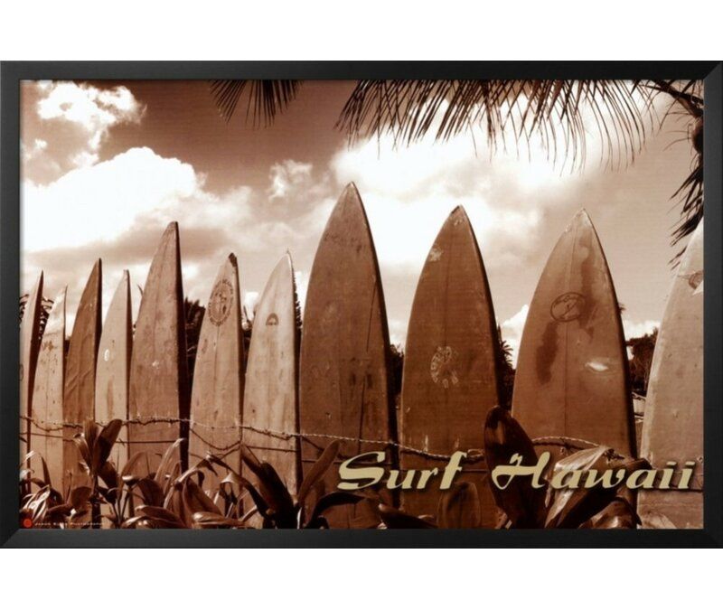 Buy Art For Less \'Surf Hawaii Surfboards Poster\' by Jason Ellis ...