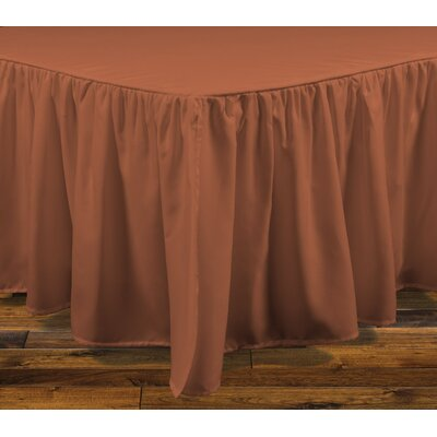 Brielle Stream 15 Bed Skirt Color: Spice, Size: Full
