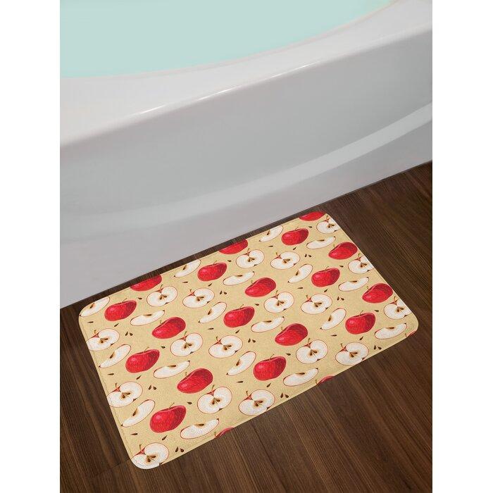 Ambesonne Le Bath Mat By Fresh Slices With Seeded Backdrop Pie Ings Vegetarian Way Of Life Plush Bathroom Decor Non Slip