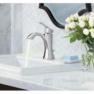Voss Single Handle Centerset High Arc Bathroom Faucet with Optional Pop-Up Drain