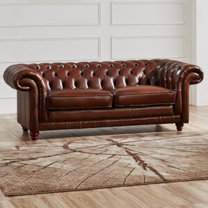 Noci Design Leather Chesterfield Sofa Image