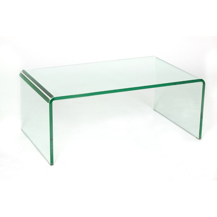 glass coffee table. Waterfall Glass Coffee Table L