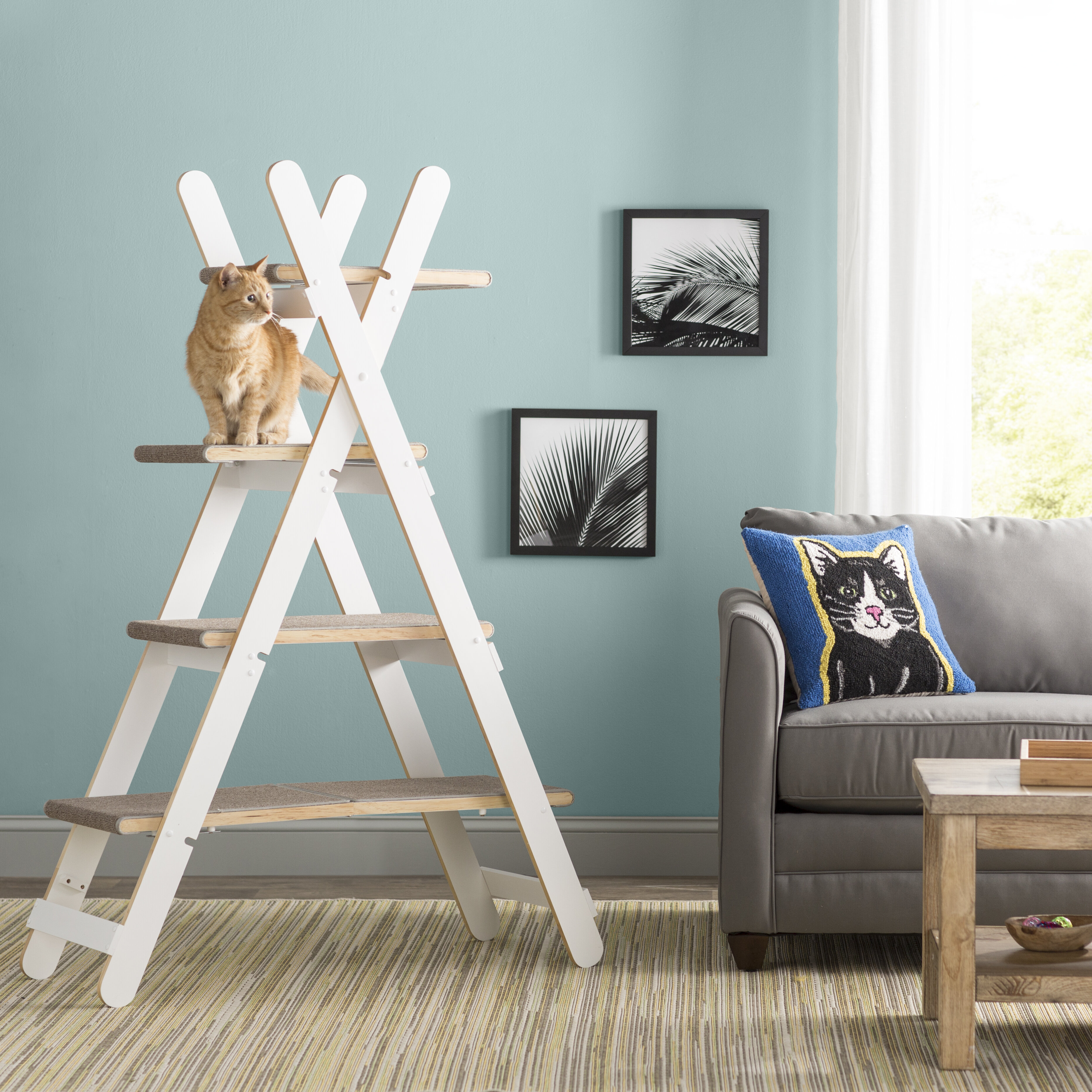 Archie Oscar Algonquin 60 Modern Folding Cat Tree Reviews Wayfair