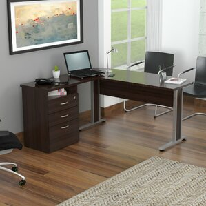 Curved Top L-Shape Computer Desk