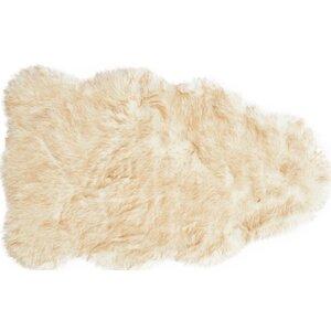 Yukon Faux Sheepskin Beige Area Rug
