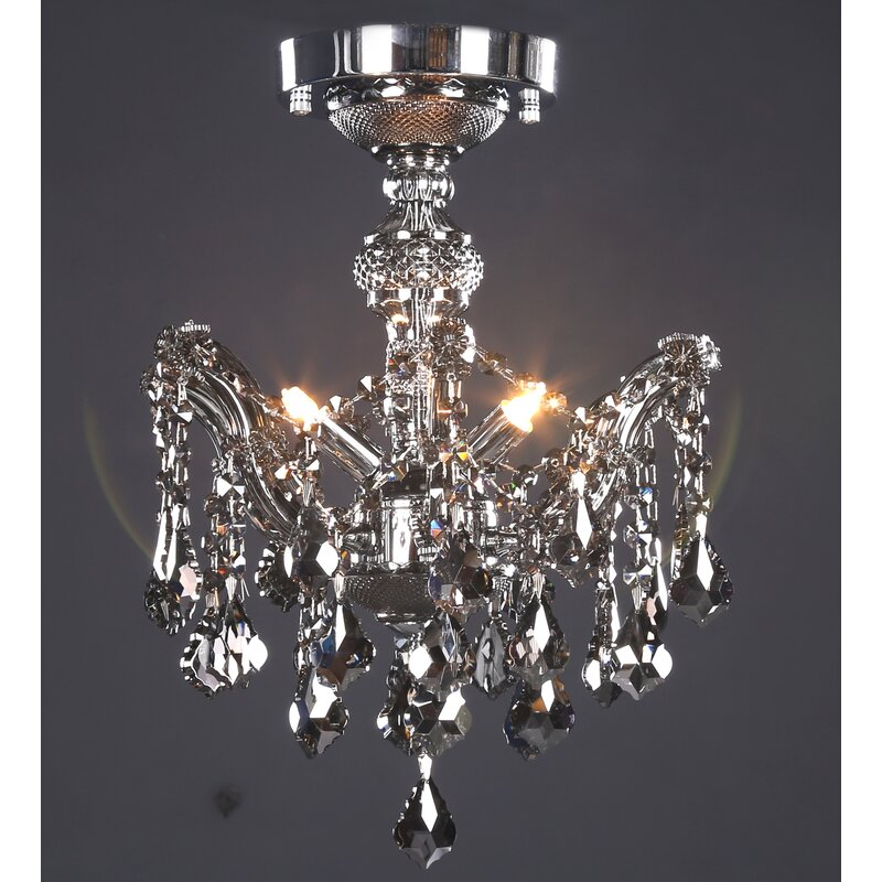 Rosdorf Park Darrion 3-Light Semi Flush Mount