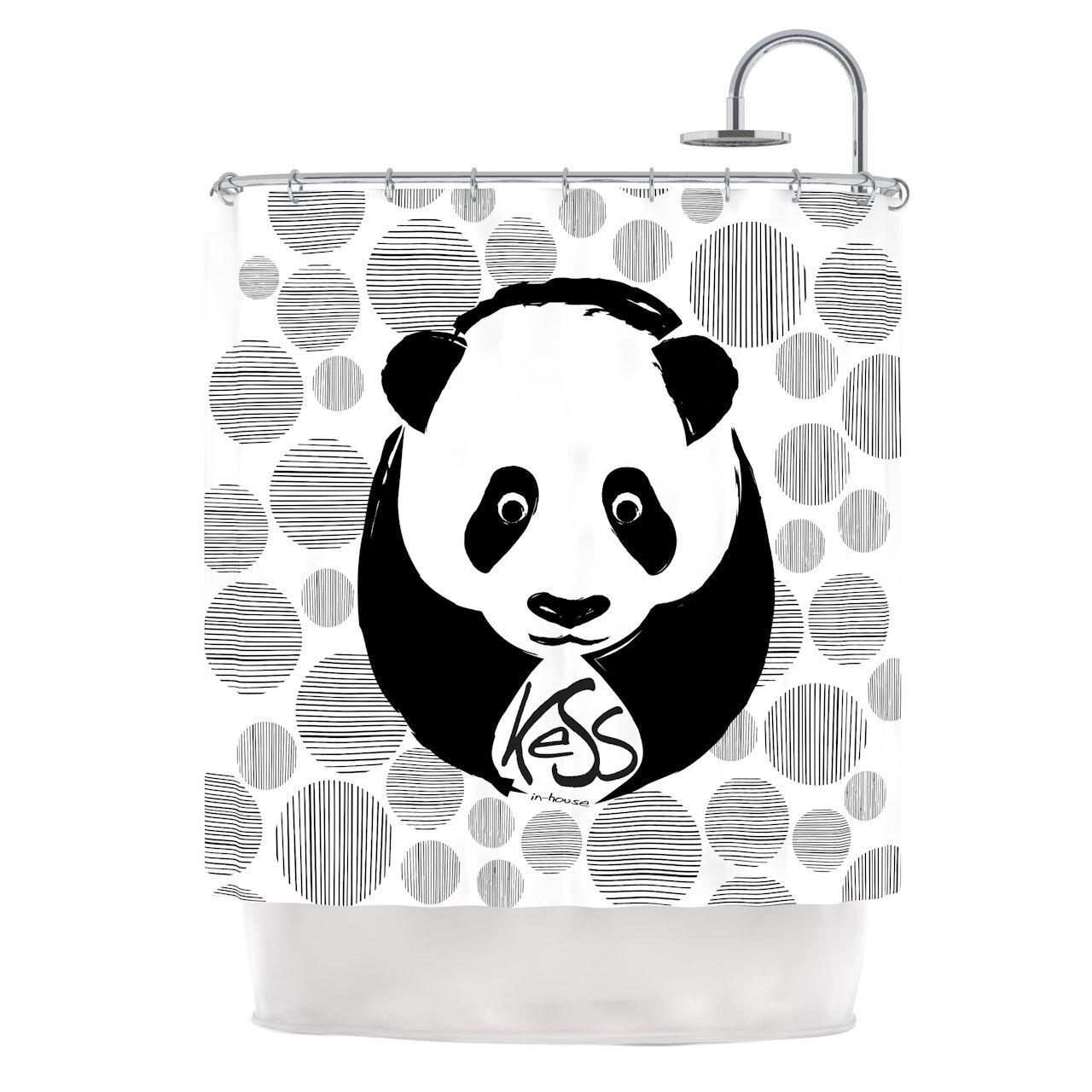 KESS InHouse Panda Shower Curtain