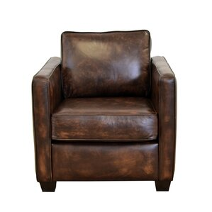 Salisbury Genuine Top Grain Leather Club Chair by Westland and Birch