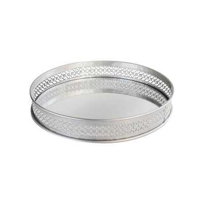 Charlton Home Tolan Gold Accent Tray Color: Silver