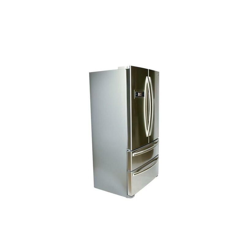Counter Depth 4-Door Counter-Depth French Door Refrigerator  sc 1 st  Wayfair & Hallman 20.8 cu.ft. Counter Depth 4-Door Counter-Depth French Door ...