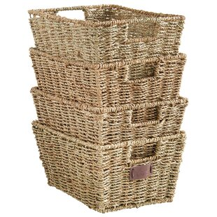 Seagrass Storage Basket (Set Of 4)