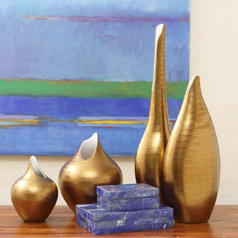 Global Views Vase: Global Views Golden Stripe Vase & Reviews