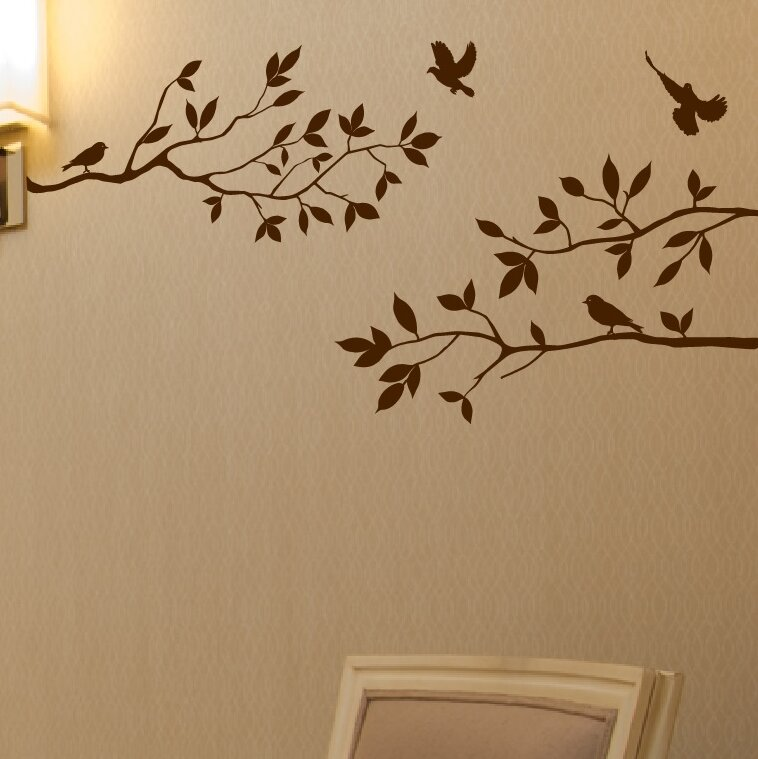exceptional Wall Stickers Tree Branch Part - 4: Tree Branches with Birds Wall Decal