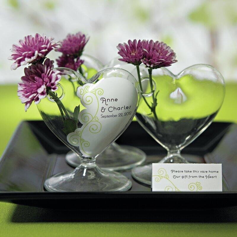Weddingstar Small Heart Shaped Vase Wayfair