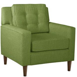 Beau Kelly Green Armchair | Wayfair