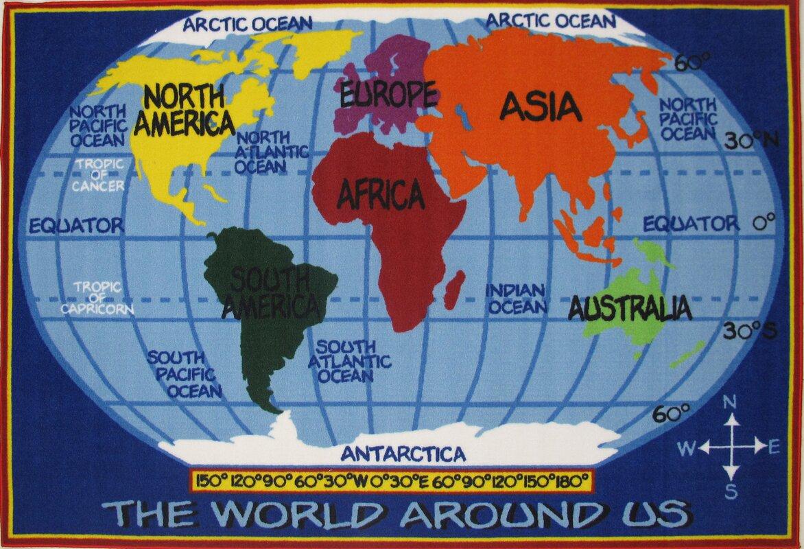 fun time world map kids rug. fun rugs fun time world map kids rug  reviews  wayfair