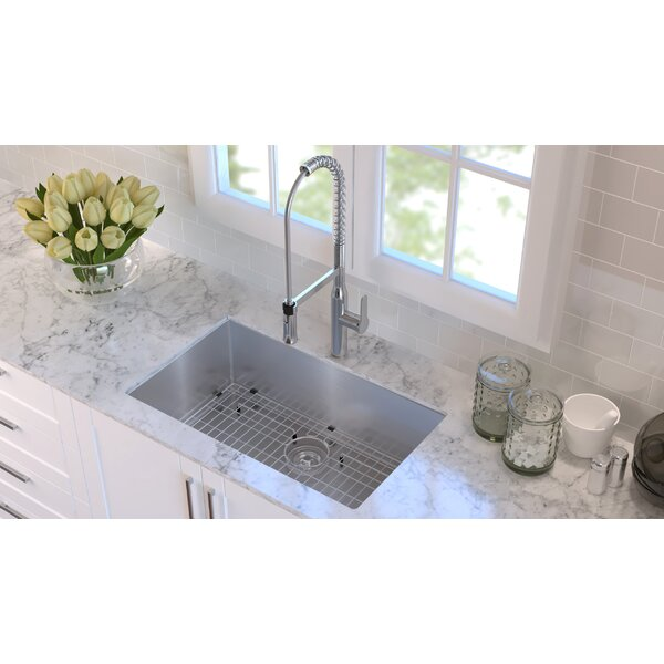 "Kraus® KHU100-30 30"" Handmade Undermount Stainless Steel Kitchen Sink – Durable & Versatile"