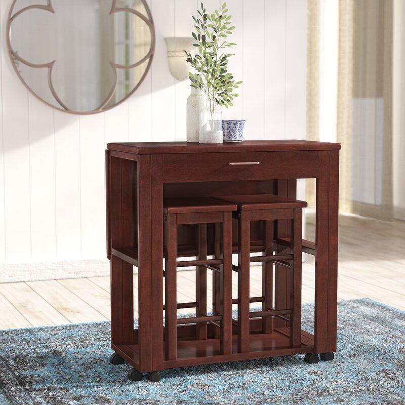 Incroyable Crownover 3 Piece Bar Table Set
