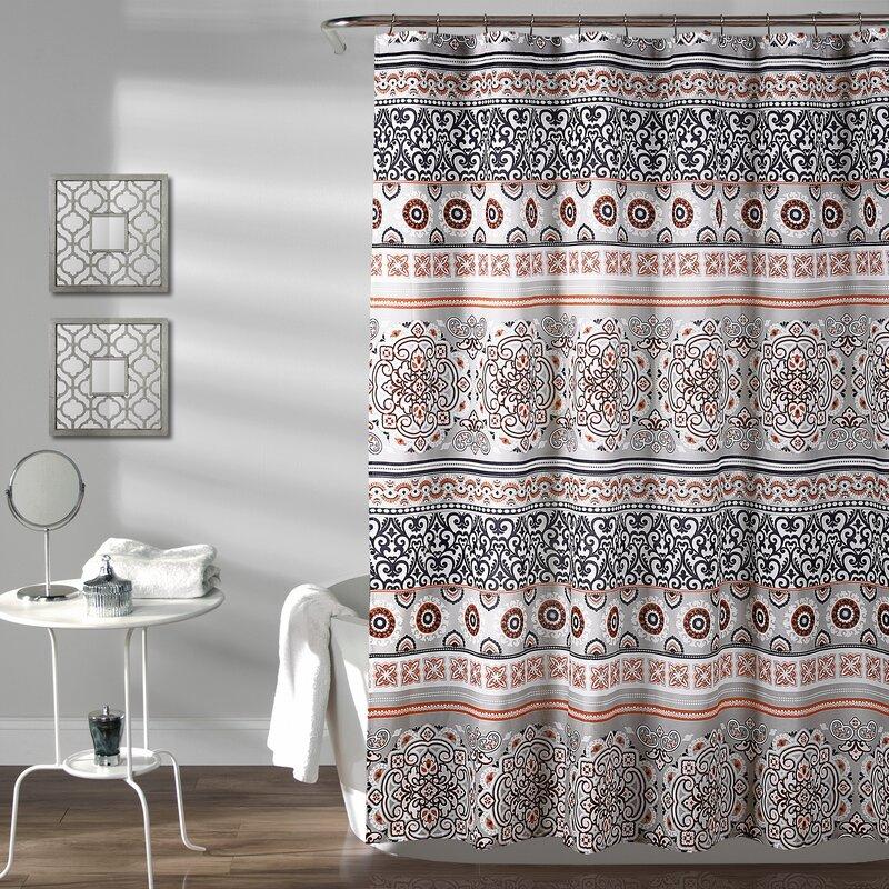 World Menagerie Braelyn Stripe Shower Curtain | Wayfair