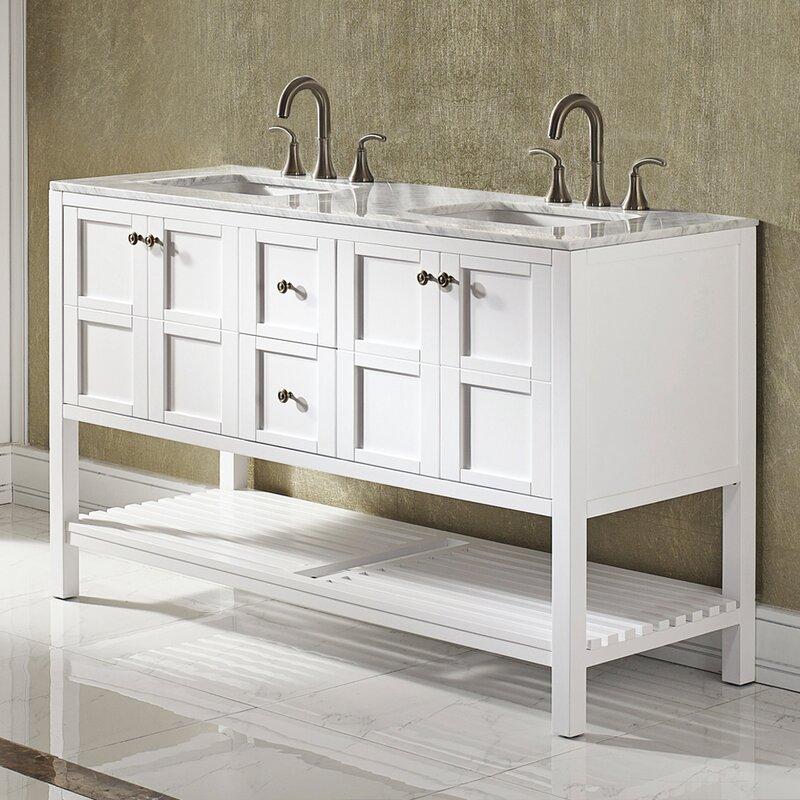 Beachcrest Home Caldwell 60 Quot Double Bathroom Vanity Set