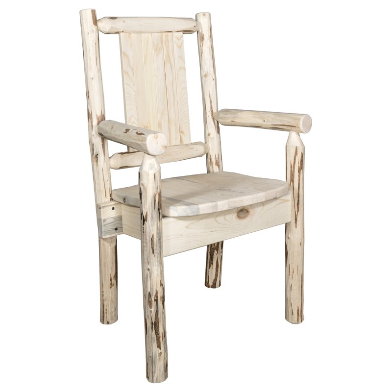 Riddle Rustic Captainu0027s Solid Wood Dining Chair