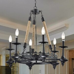 Eirene 6-Light Candle-Style Chandelier