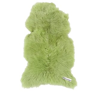 Handwoven Apple Green Rug by Dyreskinn