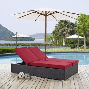 Double Patio Chaise Lounge Chairs Youu0027ll Love | Wayfair