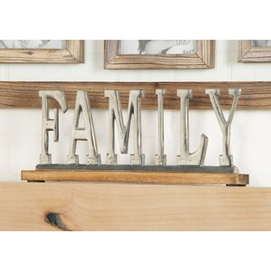 Silver Family Letter Block