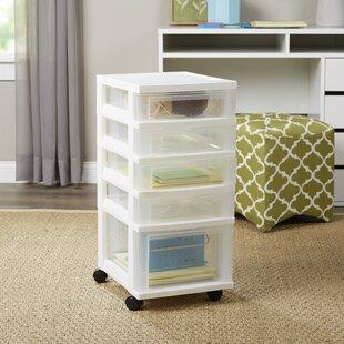 Delightful Wayfair Basics Small 5 Drawer Storage Chest