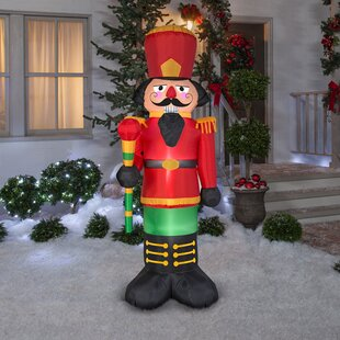 nutcracker inflatable by the holiday aisle - Huge Inflatable Christmas Decorations