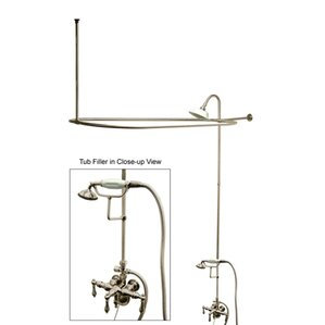 clawfoot tub and shower package. Vintage Triple Handle Wall Mount Down Spout Clawfoot Tub and Shower Package  Wayfair